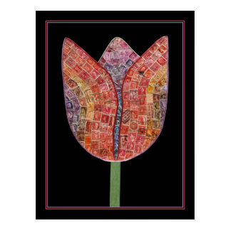 Tulip of Postage Stamps - postcard