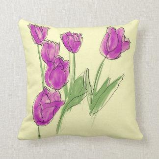 Tulip Patch Throw Pillow