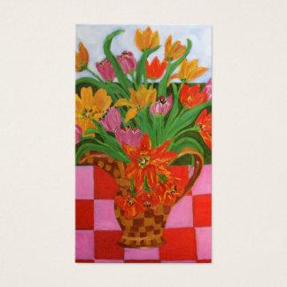 Tulip Picnic Art by Susan Payne-Trutna Business Card