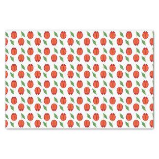 Tulip Red Orange Spring Pattern Tissue Paper