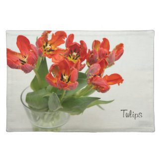Tulip red Placemats