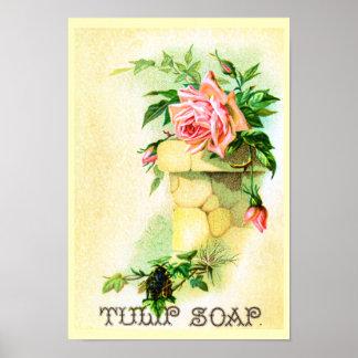 Tulip Soap Advertisement Poster