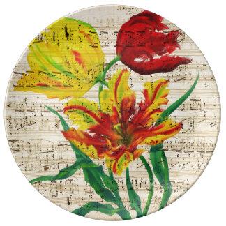 tulip songs plate