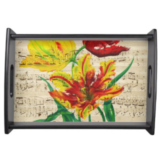 tulip songs serving tray