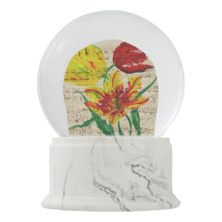 tulip songs snow globe