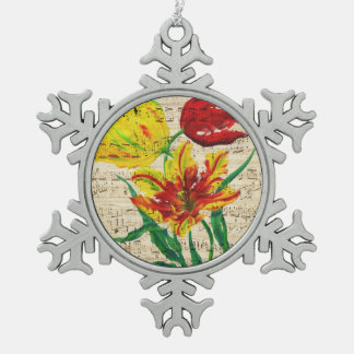 tulip songs snowflake pewter christmas ornament