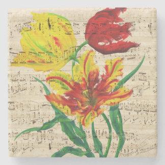 tulip songs stone coaster