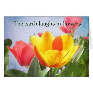Tulip Spring Joy Earth Day Greeting Card