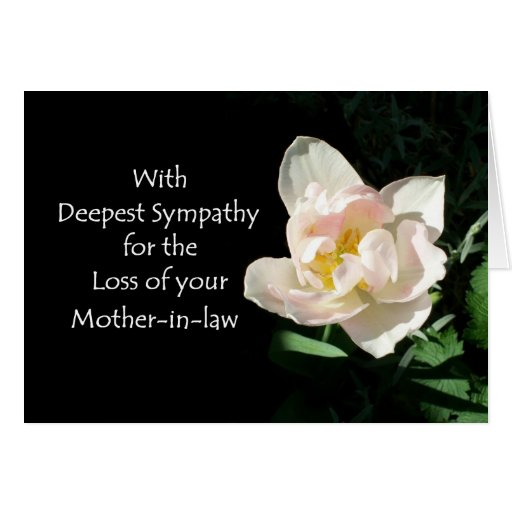Tulip Sympathy Card - Loss of a Mother-in-law