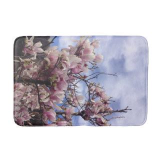 Tulip Tree Flowers Bath Mat