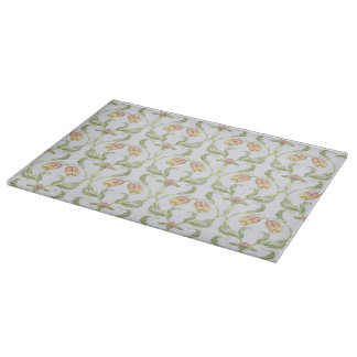 Tulip Trellis Glass Cutting Board