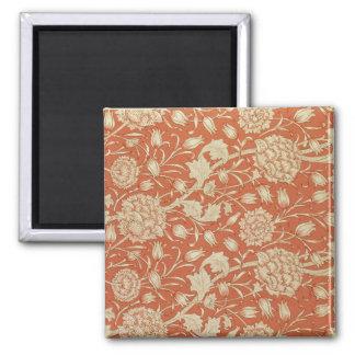 Tulip wallpaper design, 1875 square magnet