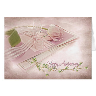 tulip wedding anniversary for spouse card