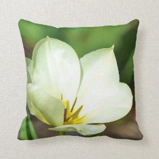 Tulipe blanche de ressort coussin
