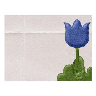 Tulipe bleue cartes postales