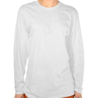 Tulipe bleue - conception de la chemise des femmes tee-shirt