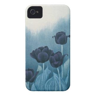 Tulipe bleue coques iPhone 4