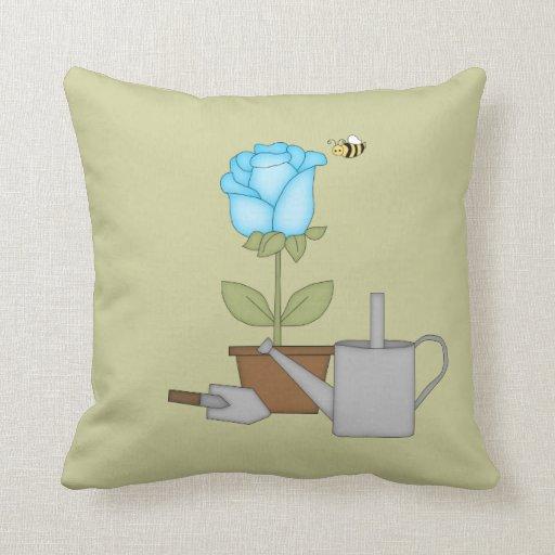 Tulipe bleue oreiller