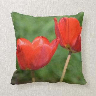 Tulipe de ressort naturel florale coussin