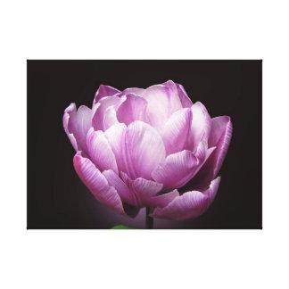 """Tulipe """"diamant bleu """" toile tendue sur châssis"""