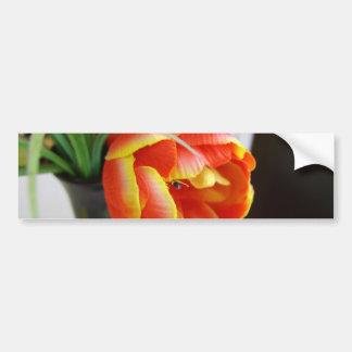 Tulipe en soie autocollant de voiture