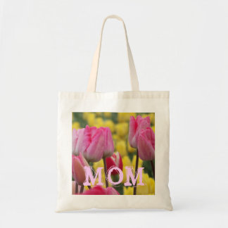 Tulipe rose et jaune Fourre-tout de MAMAN Sac En Toile Budget
