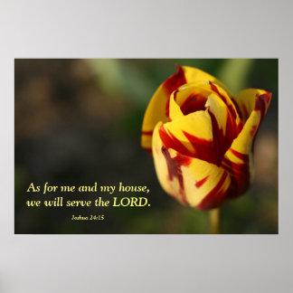 Tulipe rouge et jaune de 24h15 de Joshua