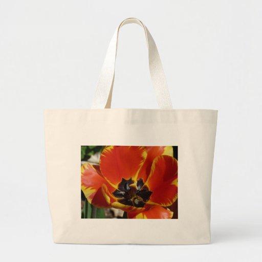 tulipe, rouge et jaune sacs