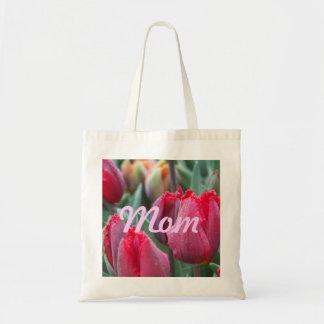 Tulipe rouge Fourre-tout de maman Sac En Toile Budget