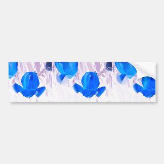 Tulipes bleues lumineuses autocollant de voiture