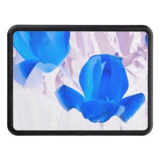 Tulipes bleues lumineuses couvertures remorque d'attelage