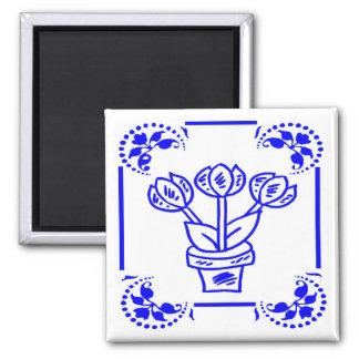 Tulipes bleues néerlandaises aimants