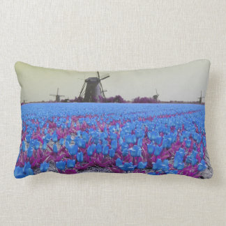 Tulipes bleues Popart de moulins à vent Oreillers