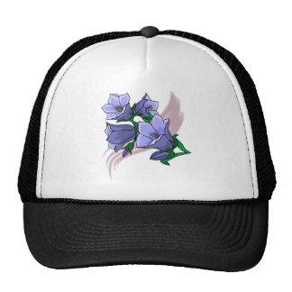 Tulipes bleues sur le remous de prune casquette de camionneur