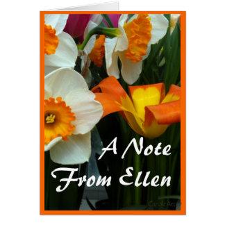 Tulipes de Jonquil Carte De Correspondance