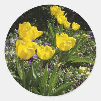 Tulipes de ressort sticker rond