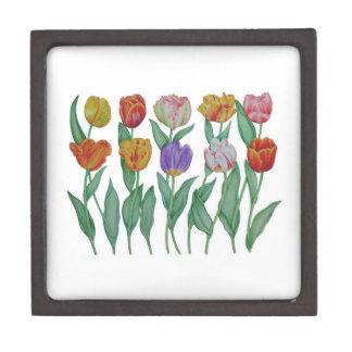 Tulipes de ressort boîtes à souvenirs de première qualité