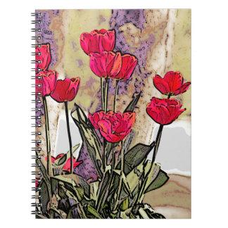 Tulipes de ressort carnet à spirale