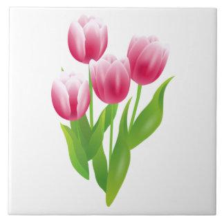 Tulipes de ressort. Carreaux de céramique de cadea