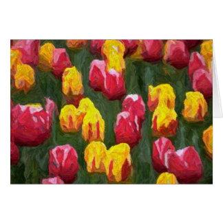 Tulipes de ressort cartes de vœux