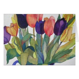 Tulipes de ressort carte de correspondance