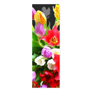 Tulipes de ressort carte de visite petit format