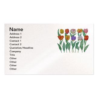 Tulipes de ressort modèle de carte de visite