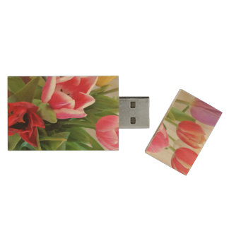 Tulipes de ressort, commande d'instantané d'USB, Clé USB 3.0 En Bois