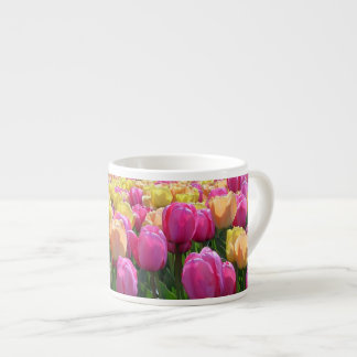 Tulipes de ressort mugs pour expresso
