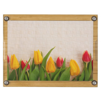 Tulipes de ressort plateau à fromage rond