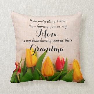 Tulipes de ressort pour le coussin de grand-maman
