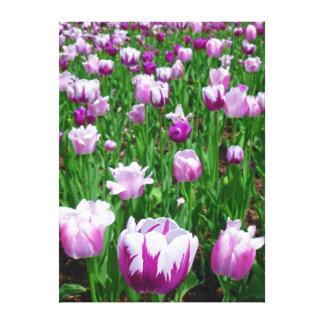 Tulipes de ressort impression sur toile