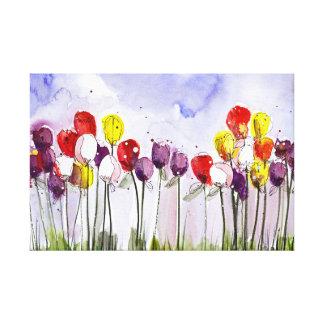 Tulipes de ressort toiles
