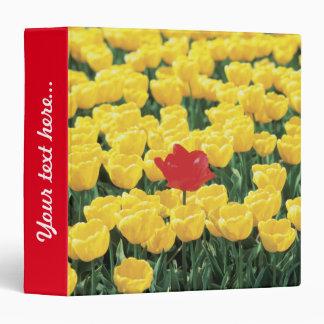 Tulipes jaunes et rouges classeurs
